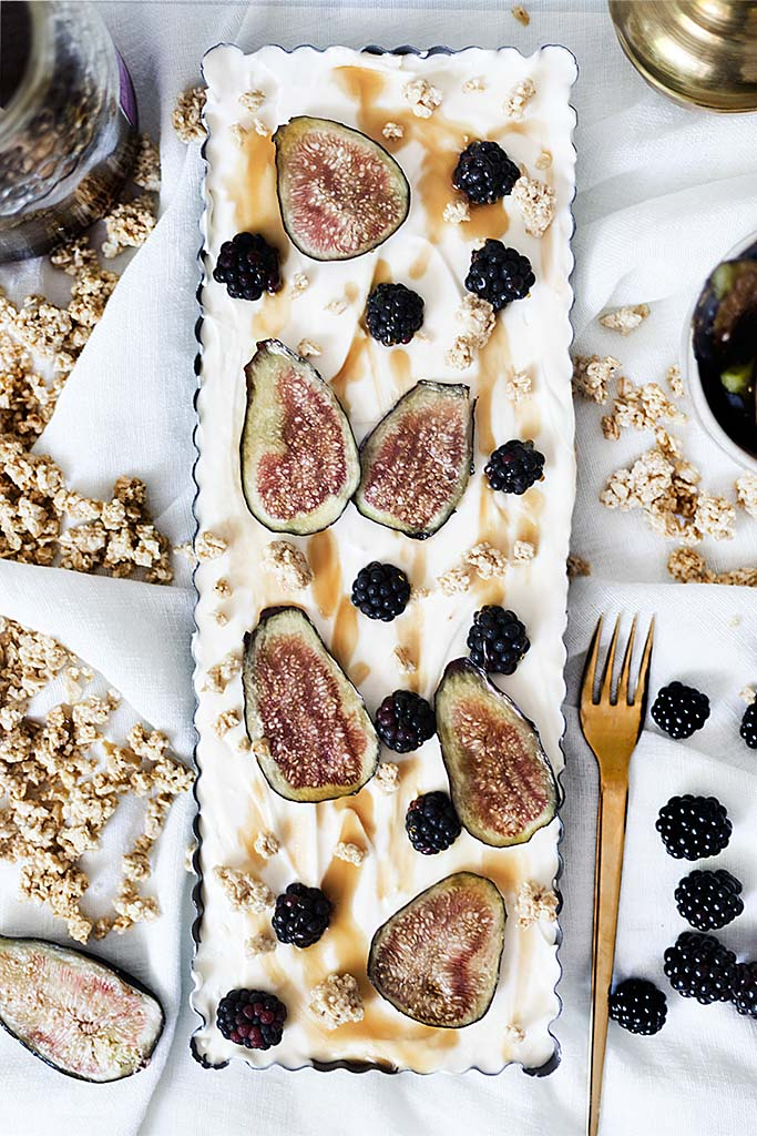 Summer Pie with Figs and Blackberries